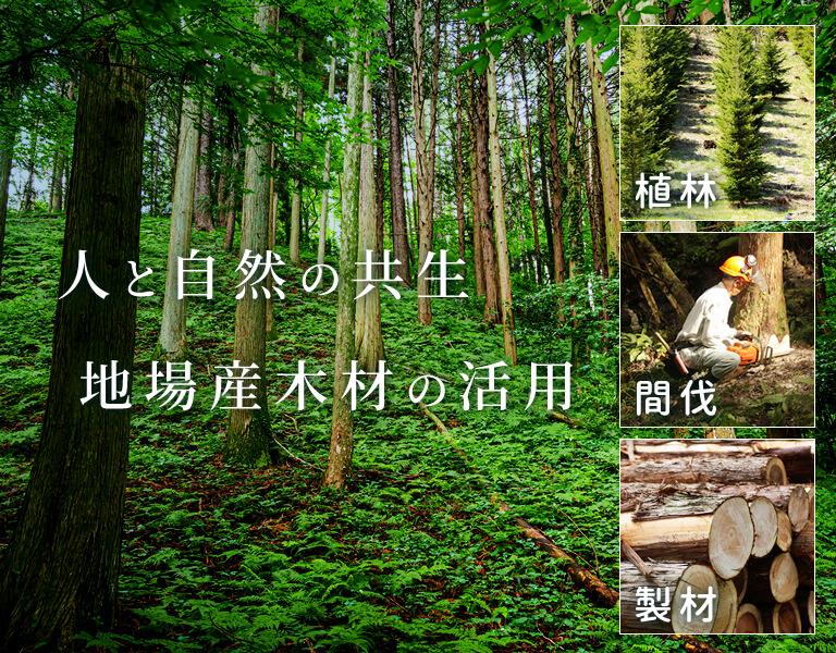 人と自然の共生 地場産木材の活用